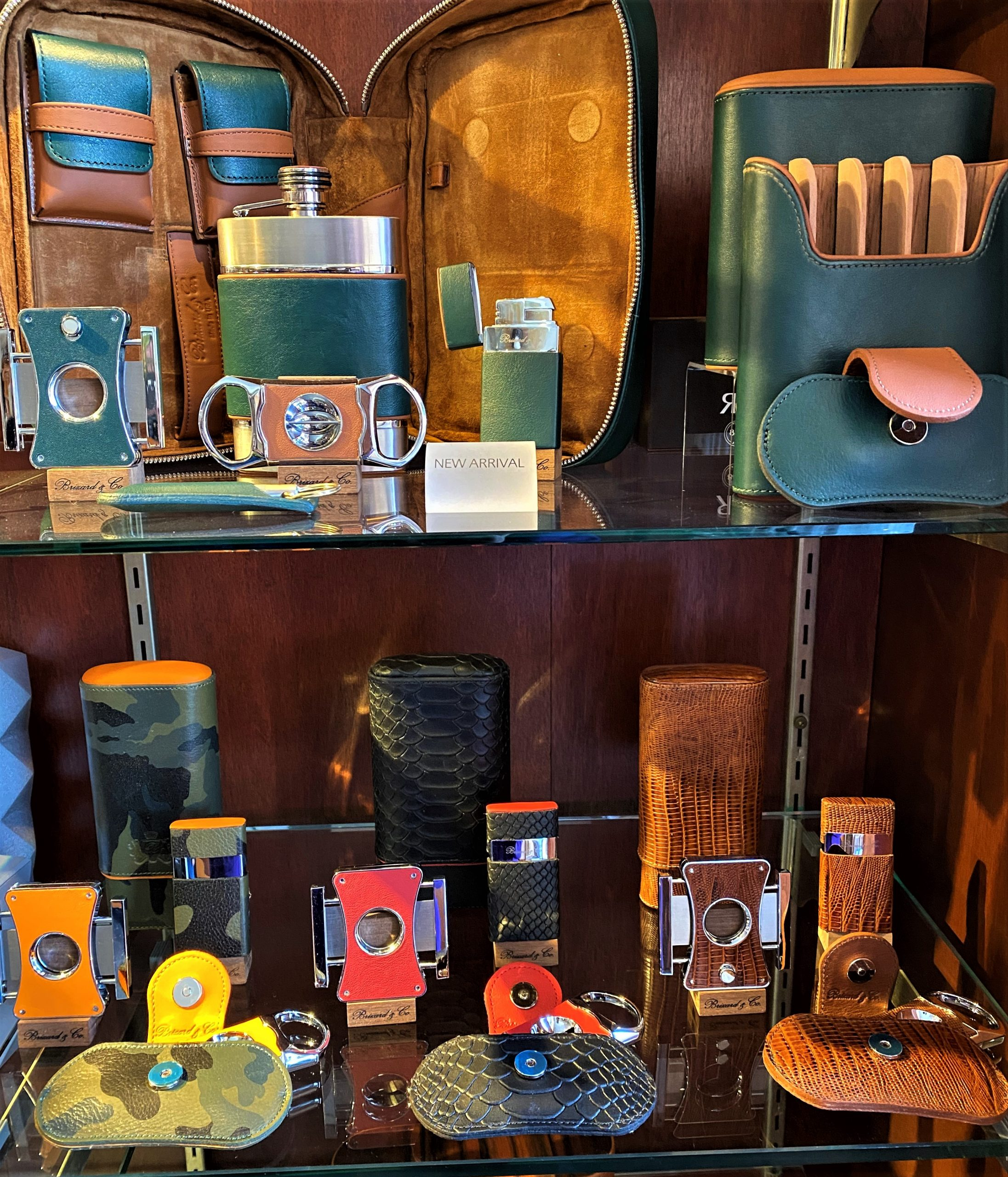 cigar cutters, torch lighters and cigar cases