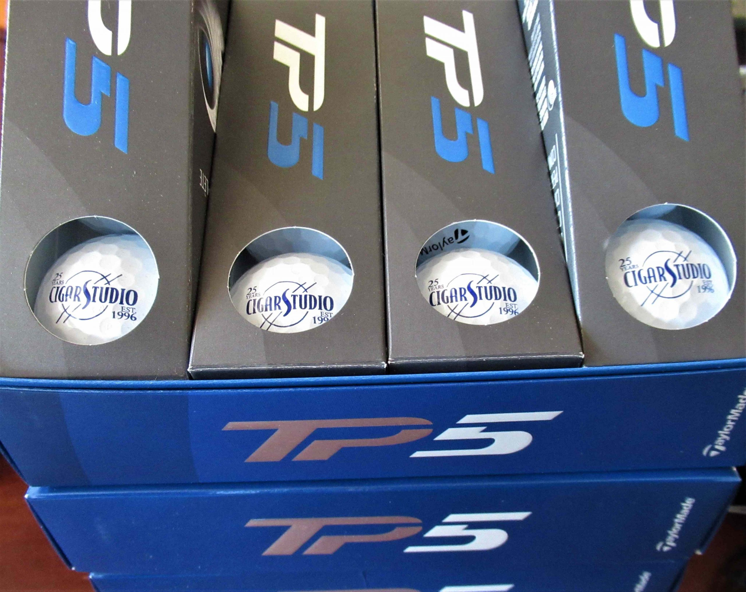 Sleeve of Tailor Made TP5 Golf Balls - Cigar Studio